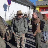 Ranný zraz - vpravo Ičo z T.O. Eldorádo - organizátor