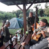 Gajary - večerné hranie na brehu Moravy