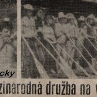 plavba Družby (výstrižok z novín 1983)