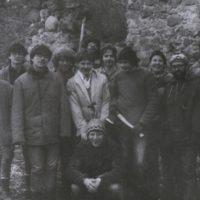 jedna z prvých brigád na Čabradi, 1988 (Túlavá Jackie 3. sprava)