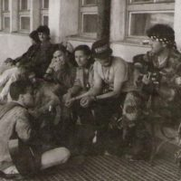 na železničnej stanici v Starej Ľubovni (1991)