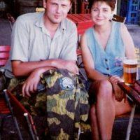 Ozveny ciest s novinárkou a redaktorkou Severky Majkou Mikovou (Kozárovce 1993)