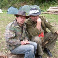 s Mamutom na 18. výročí osady (2008)